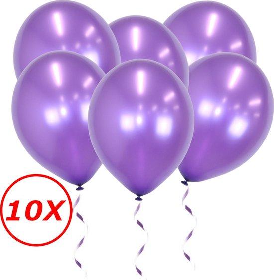 Paarse Ballonnen Metallic 10St Feestversiering Verjaardag Ballon