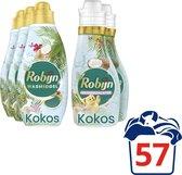 Robijn Kokos Sensation Wasmiddel en Wasverzachter - 57 wasbeurten - Voordeelverpakking