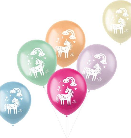 Ballonnen Unicorns & Rainbows Meerkleurig 33 cm - 6 stuks