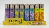 Clipper aansteker Classic  -Thema 'World Flowers' - 4 stuks - vuursteen aansteker - Flint