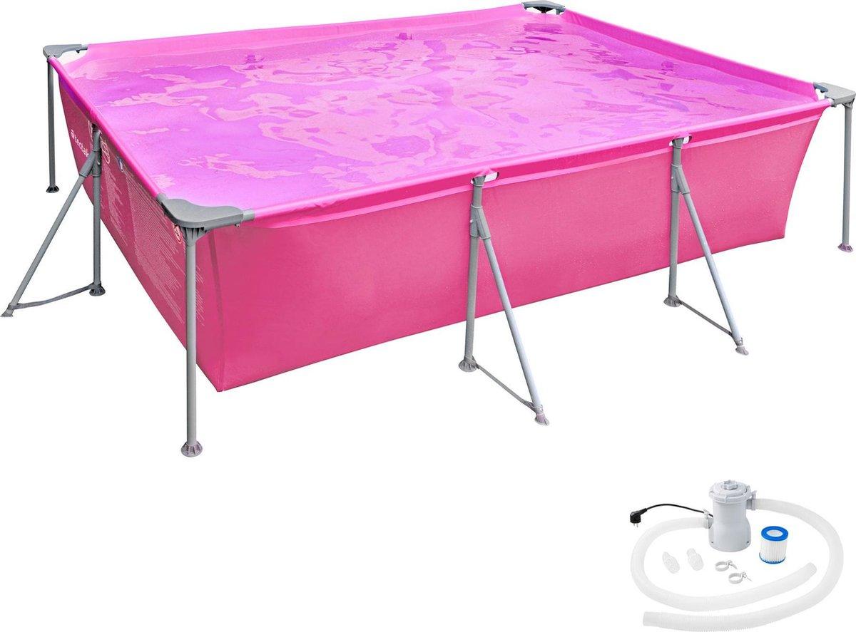 tectake - Zwembad - Swimming pool rechthoekig 300 x 207 x 70 cm pink - 403822