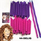 Heatless Curls 44 stuks - Krulspelden - Haarrollers - Meest volledige set - Krullen Zonder Hitte