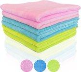 Dieux® - Microvezeldoekjes - 6 stuks - Ultrazachte Meest Absorberende Schoonmaakdoeken - Nanovezel met 400 GSM - Vaatdoek - Hoogwaardige Schoonmaakdoekjes in 3 kleuren