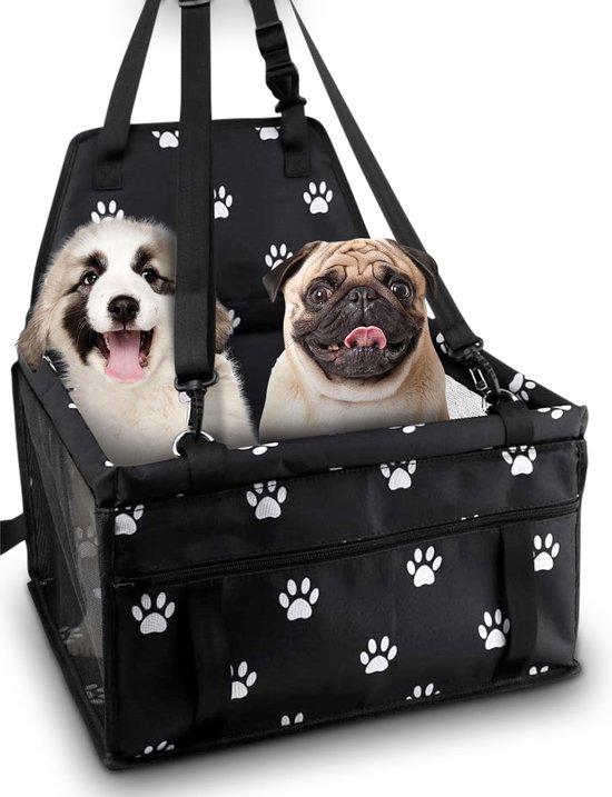 Opvouwbare Autostoel voor Hond - Hondenmand met Hondentuig - Autozitje - Autobench - Hondenstoel - Reisbench