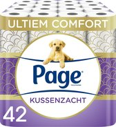 Page toiletpapier - Kussenzacht wc papier - 3-laags - voordeelverpakking - 42 rollen
