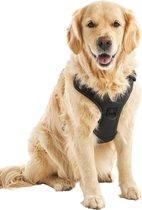 4. Hondentuigje - Anti-Trek Tuig - Hondenharnas - Reflecterend - Zwart - Maat XL