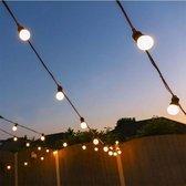 a sunny day lichtsnoer buiten inclusief 10 melk LED lampen - lichtsnoer voor buiten - prikkabel - lichtsnoer - 10 melk LED lampen - 10 meter - verlengbaar - lichtsnoer binnen - prikkabel binnen - prikkabel 10m - lichtsnoer 10m - lichtsnoer tuin