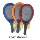Kinky Pleasure - Racket XL - Tennis Set XL - Kinder Tennis Set - Backminton Kit - Blauw