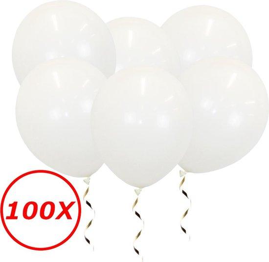 Witte Ballonnen Verjaardag Versiering Witte Helium Ballonnen Bruiloft Feest Versiering EK WK Koningsdag Wit 100 Stuks