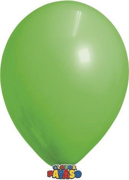 Zakje met 15 limoen groene ballonnen - 30cm doorsnee (12 inch) - Biologisch afbreekbaar