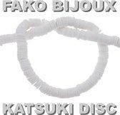 Fako Bijoux® - Katsuki Disc Kralen - Polymeer Kralen - Surf Kralen - Kleikralen - 6mm - 350 Stuks - Wit