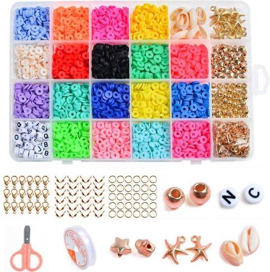 268-Delige XXL Kralen Set Voor Zelf Sieraden Maken - DIY Kralenset Kralendoos Starters Pakket Kit - Beads Kralenpakket - Startersset Armband/Ketting/Oorbel/Enkelband/Juwelen Knutselen - Sieradenpakket Sorteerdoos - Assorti