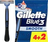 Gillette Blue3 Smooth 4+2 stuks