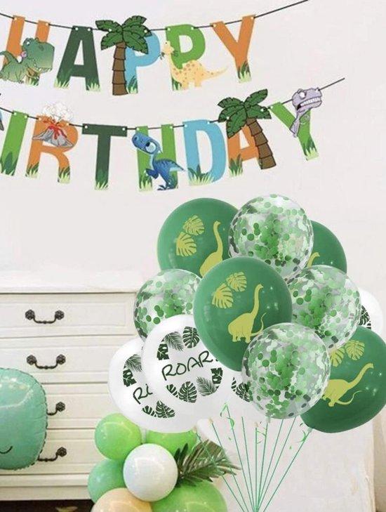 Dinosaurus ballonnen - 12 stuks - 3 verschillende - Dino feestje - Jongen - Meisje - Dino verjaardag - Kinderverjaardag - Kinderfeestje - Safari en Jungle