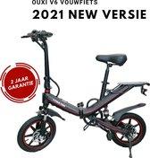 I-CIGO - Originele-OUXI-V5 -16 inch banden -E-Bike - Elektrische Fiets - vouwfiets-met Lithuim-ion accu 15ah- 500W motor (Zwart)