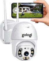 Gologi - Beveiligingscamera  - Wifi Smart Waterdichtheid IP66 - IP camera - buiten - draai- en kantelbaar - FULL HD 1080P