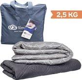 Verzwaringsdeken Kind 2,5KG Weighted Blanket Kinderen - Beter slapen- Oeko Tex Keurmerk –Grijs Driehoek - 100x150 –