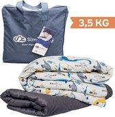 Verzwaringsdeken Kind 3,5KG Weighted Blanket Kinderen - Beter slapen- Oeko Tex Keurmerk –Dino - 100x150