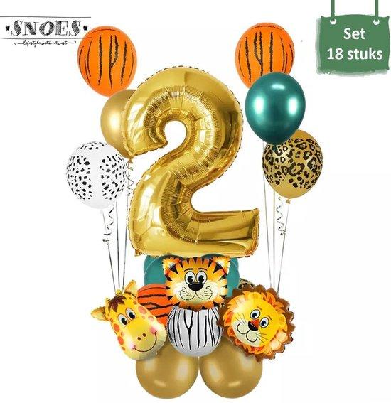 Dieren Ballon Pakket * 2 Jaar * Jungle Ballon * Dieren Feest * Jungle Feest * Verjaardag Feest * Hoera 2 Jaar * Gefeliciteerd * Kinderfeestje * Jungle Party * Snoes