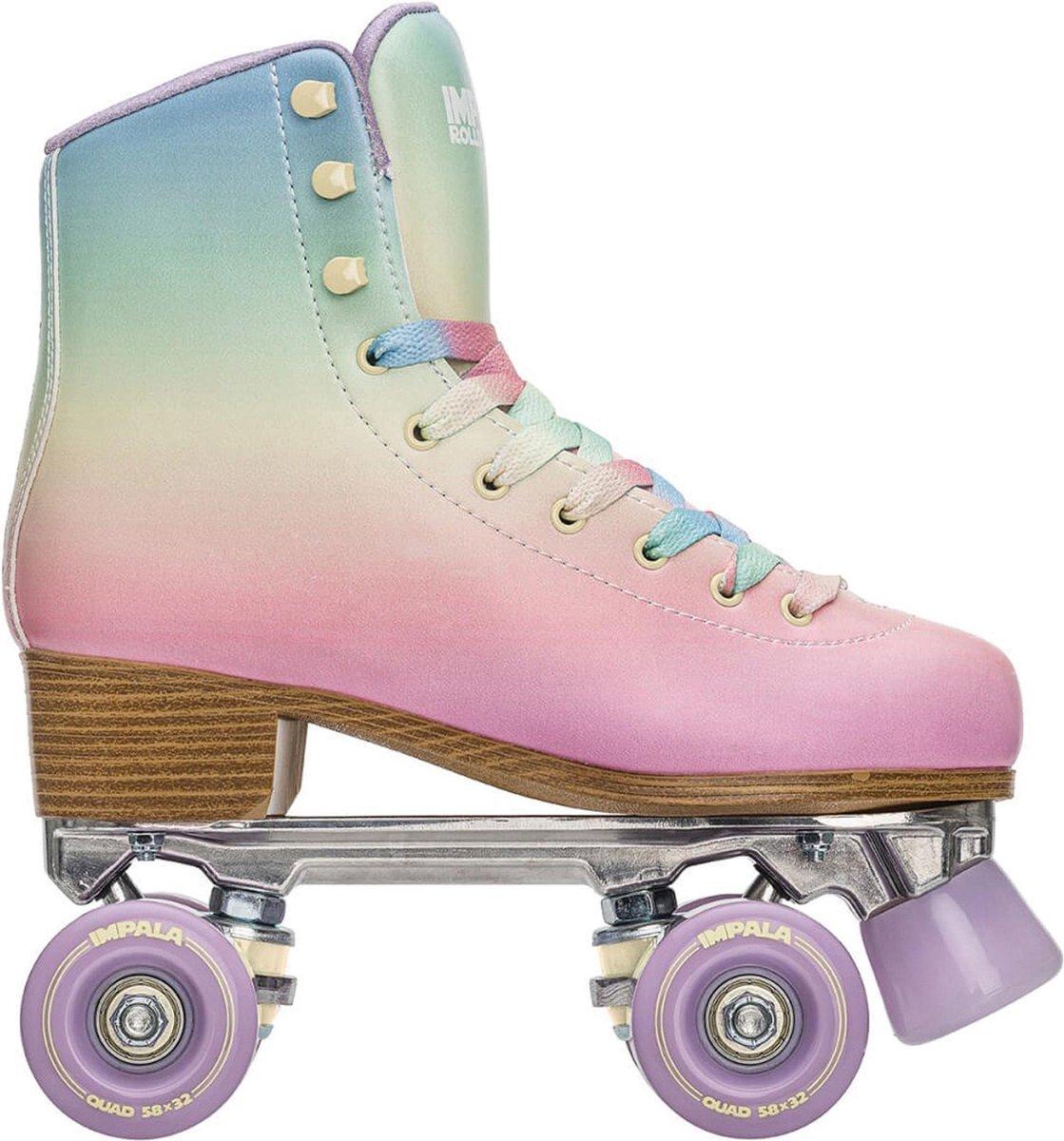 Impala Rolschaatsen - Maat 40Volwassenen - Roze - Geel - Blauw