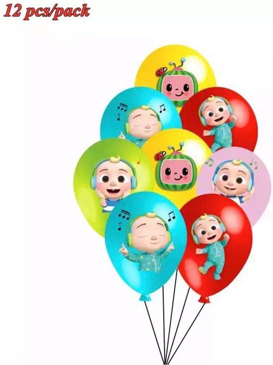 12 Stuks 12 Inch Cocomelon Ballonnen Cocomelon Thema Latex Ballon Cartoon Verjaardagsfeestje Decoratie Thema Feestartikelen Kinderen Speelgoed