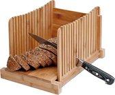 Q-Living Broodsnijder Bamboe - Hulpmiddel Brood Snijden - Broodplank -Kruimelvanger - Broodplank Hout -Zelf Broodbakken -Broodsnijplank - Bamboe - Vers Brood