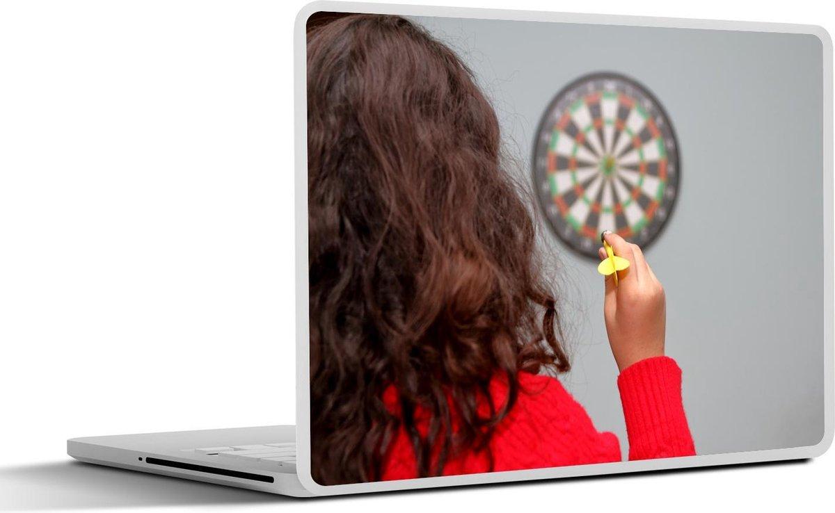 Laptop sticker - 11.6 inch - Vrouw dart in haar kamer