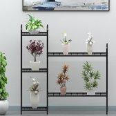 Plantenrek metaal - Large van WDMT™   99,7 x 100 x 31,5 cm   Etagere   Bloemenrek   Metalen opbergrek voor buiten   5 etages   Zwart
