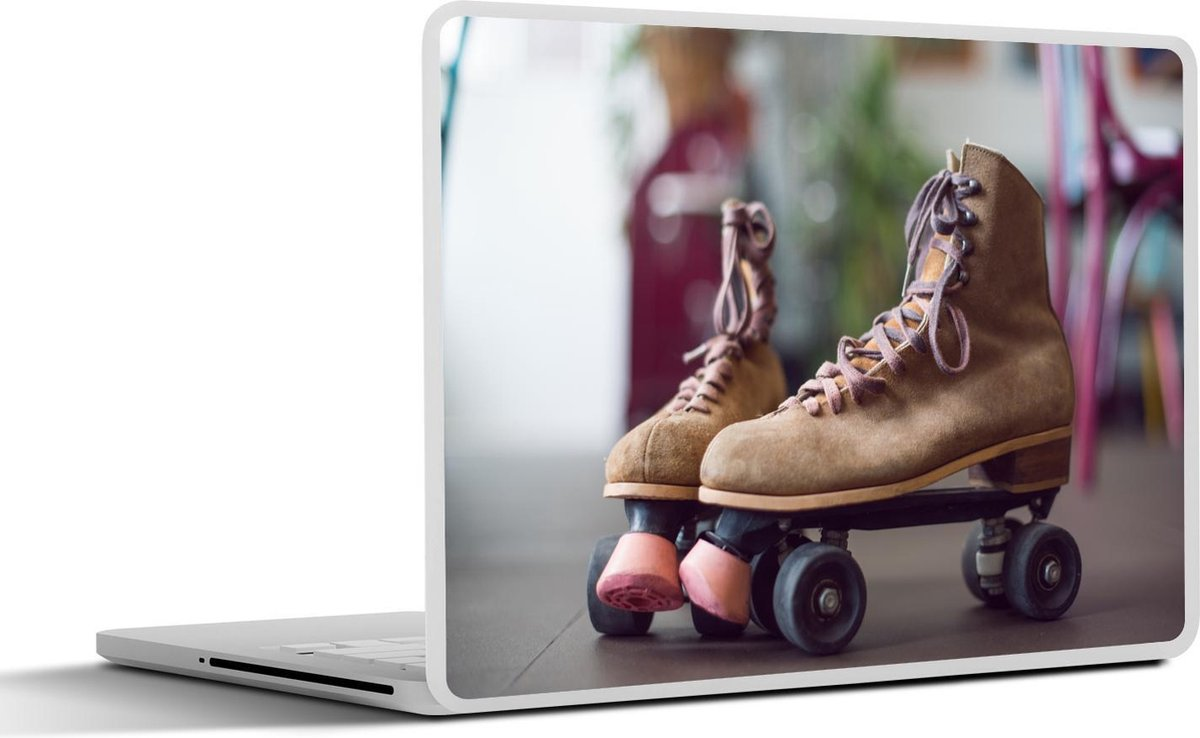 Laptop sticker - 17.3 inch - Rolschaatsen