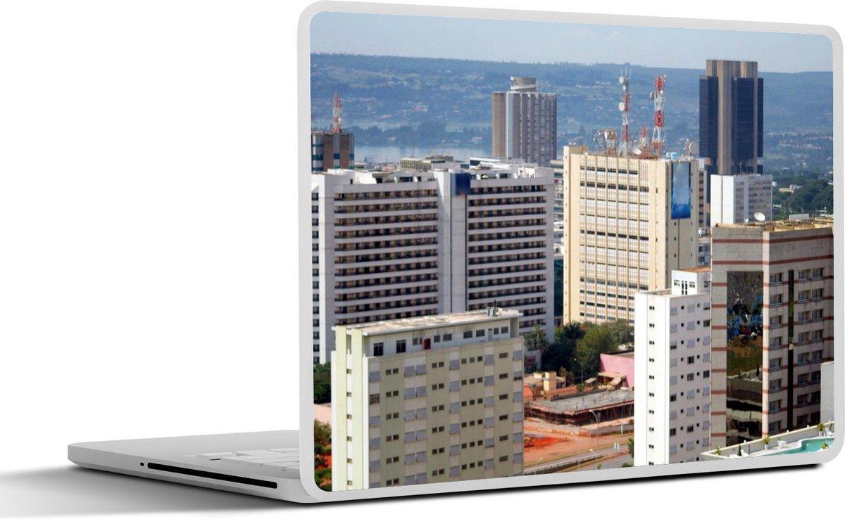 Laptop sticker - 11.6 inch - Uitzicht op het stadscentrum van het Zuid-Amerikaanse Brasília