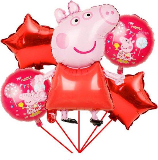 Peppa Pig folie ballonnen - set van 5 -