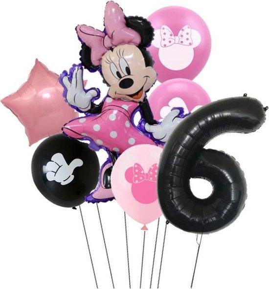 7 stuks ballonnen Minnie Mouse thema - verjaardag - 6 jaar