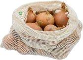 Bo Weevil Herbruikbare Groentezak/ Fruitzak - Maat L - Biologisch katoen