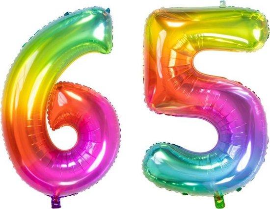 Cijfer 65 Yummy Gummy Rainbow – 86 cm