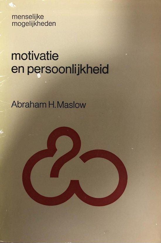 Boek cover Motivatie en persoonlijkheid van Abraham H. Maslow (Paperback)