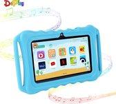 DePlay Kids Tablet - Kindertablet - Ouder Control App - Disney - Netflix Kids - Android 10.0 - 3000 Mah Batterij - Tablet Houder - Kidsproof Beschermhoes - Incl. Touchscreen Pen - Blauw