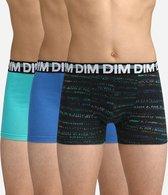 DIM Ecodim Mode - Onderbroeken Jongens - Boxershort - 3 Stuks - Maat 14 jaar - Blauw/Groen/Zwart