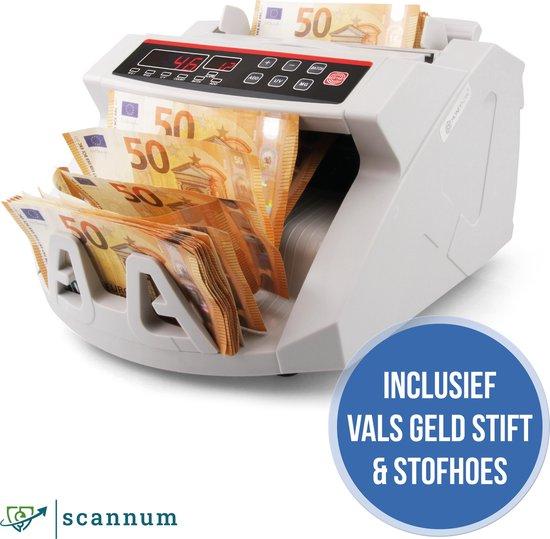 SCANNUM® Biljettelmachine - Stofhoes & Pen - 1000 Biljetten/minuut - 3-Voudig...