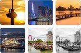 Rotterdam Onderzetters - 6 stuks   MS Fotografie