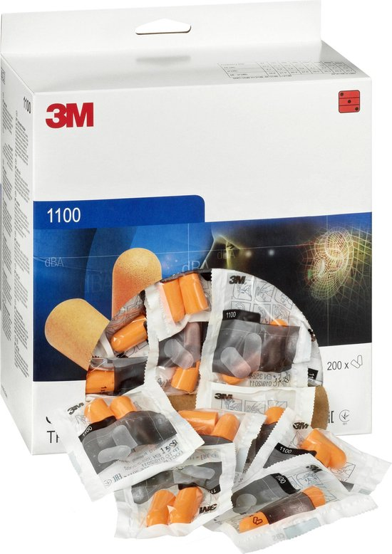 3M Oordoppen 1100 Wegwerp 37dB(A) - 200 paar