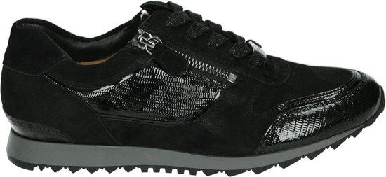 Hassia Vrouwen Suède Lage sneakers / Damesschoenen 301916 – Zwart – Maat 40