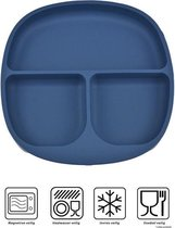 Baby - Baby Bordjes - Kinderservies - Kinderbord - met zuignap - Onbreekbaar - 19x19 - Blauw