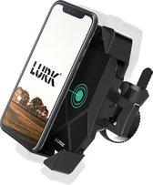 LURK® Telefoonhouder voor Fiets/Motor/Scooter – Fiets en scooter accessoires – smartphonehouder universeel - schokbestendig - 360° draaibaar – Tot 17 cm