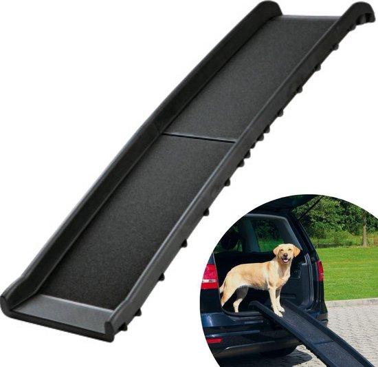 Topmast Loopplank Auto - Loopplank Hond (Tot 90Kg) - 40 x 157 cm - Hondentrap - Hondenloopplank Zwart