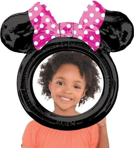 Folieballon - Selfie lijst - Minnie Mouse  - 73 x 71 cm - Niet voor helium, Verjaardag
