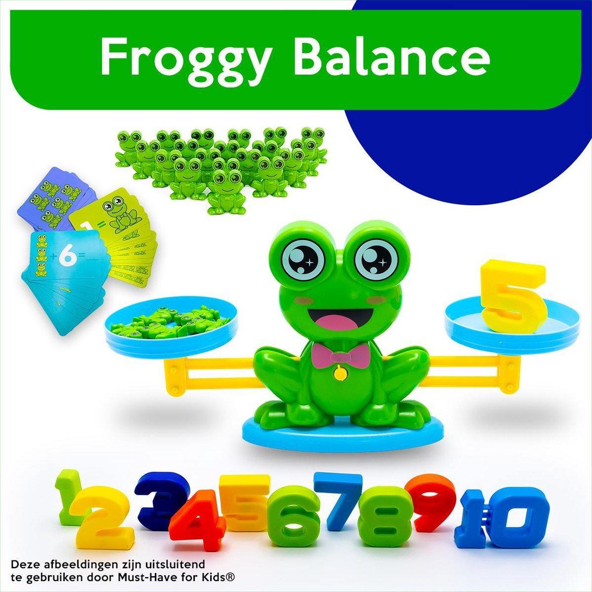 Must-Have for Kids®   Frog Balance Game - Balansspel - Leren Rekenen - Interactief Speelgoed - Weegschaal Speelgoed - Monkey Balance - Telraam - Speelgoed Jongens - 3 jaar - 4 jaar - 5 jaar - 6 jaar