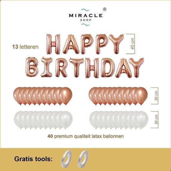 Verjaardag Ballonnen Mini Pakket 53 delig, Rose Goud, Premium Kwaliteit, Folie, Latex, Happy Birthday, Feest, Party, Set, Decoratie, Versiering, Miracle Shop