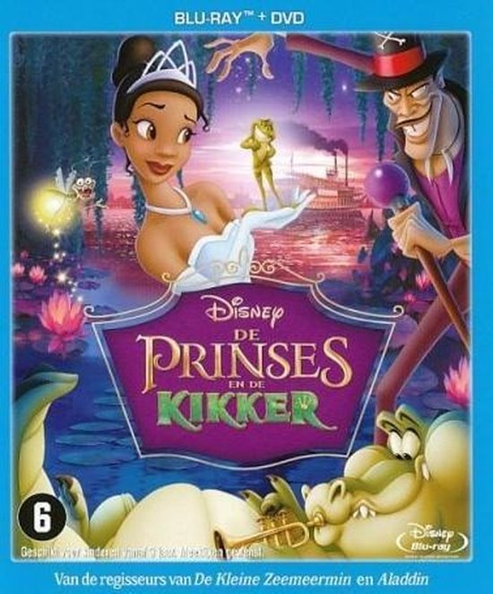 Cover van de film 'De Prinses En De Kikker'
