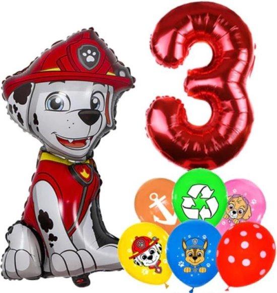 Paw Patrol Ballonnen Set Marshall - 3 Jaar - Latex Ballonnen - Decoratie