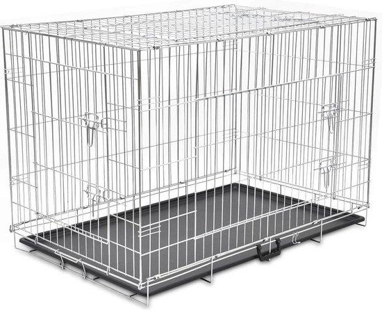 Hond Kooi Opvouwbare Metalen Hond Bench Huisdier Kinderbox Stalen Hek Puppy Kennel Training Huis Honden Levert konijnen cavia Kooi M